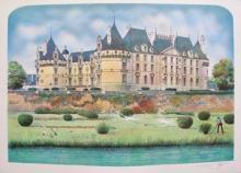 Rolf Rafflewski Chateau Ii Hand Signed Limited Edition Lithograph France