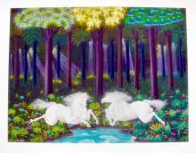 Jose Carlos Ramos  Horses At The Lake