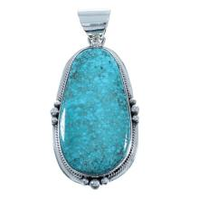 #8 Turquoise Sterling Silver Navajo Pendant