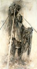 Howard Terpning - Guarding the Lodge (Artists Proof)