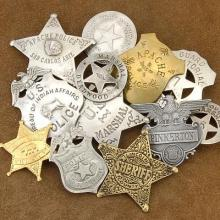 Old West Sheriff Badges 12 Pack High Grade Heroes of the West Badges