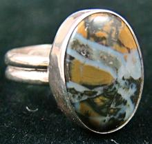 Navajo Petrified Wood Oval Ring