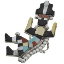 Inlaid Zuni Rainbow Man Ring By Shirley Quam