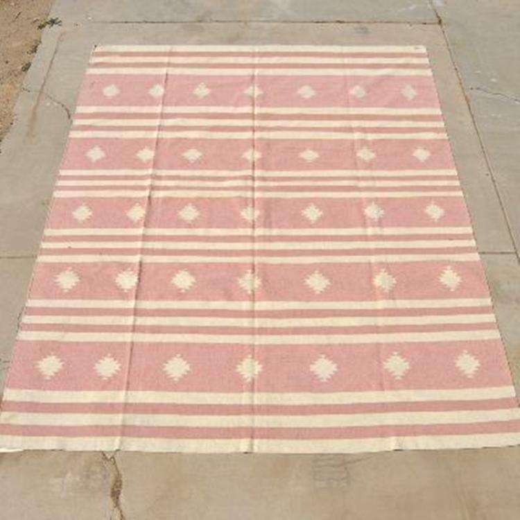 Indian Dhurrie Wool Rug Southwest Style 9 5 X 12 Feet
