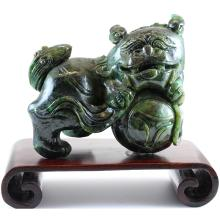 Untreated Natural Green Jade Statuary