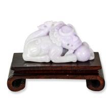 Natural Lavender Jade Statuary