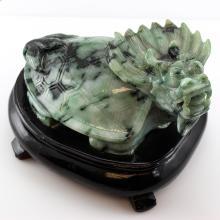 Untreated  Green Jadeite Jade Statuary