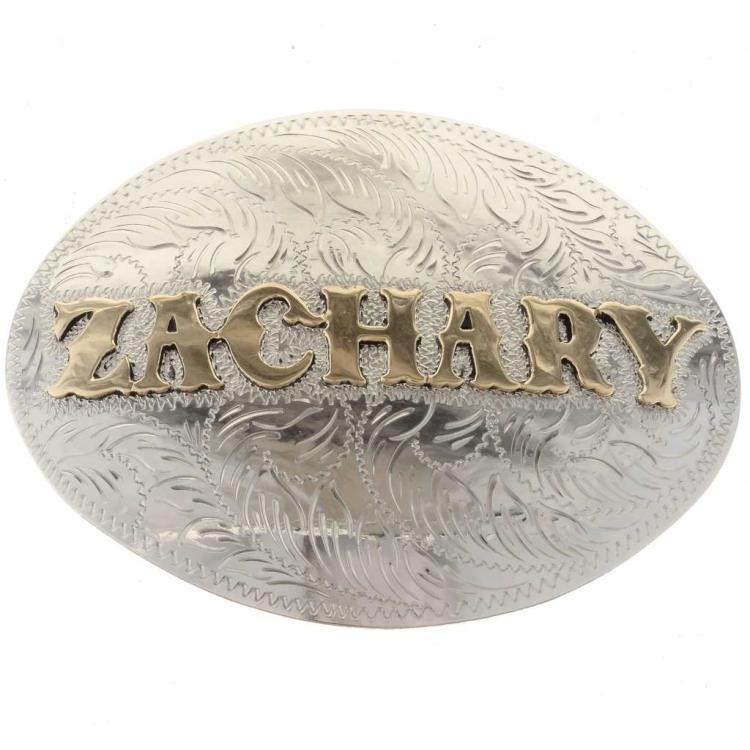 Custom Name Belt Buckle Silver Gold