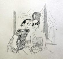 Al Hirschfeld  Anthony & Cleopatra  Elizabeth Taylor