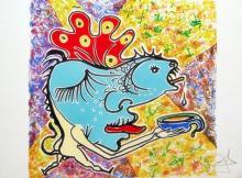 Salvador Dali (After)   Le Poisson Fish Les Vitraux Jungle Humaine