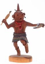 Hopi Indian Mudhead Kachina Doll By Nate Jacob