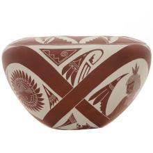 Etched Kachina Pueblo Pottery By Iseta Laguna Indians Jojola