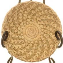 Papago Indian Swirl Basket Traditional Split Stitch 8.25