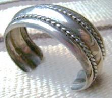Southwest Pressed Sterling Freeform Bracelet