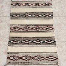 Navajo Wide Ruins Wool Rug Wall Hanging 20th Century 17.5