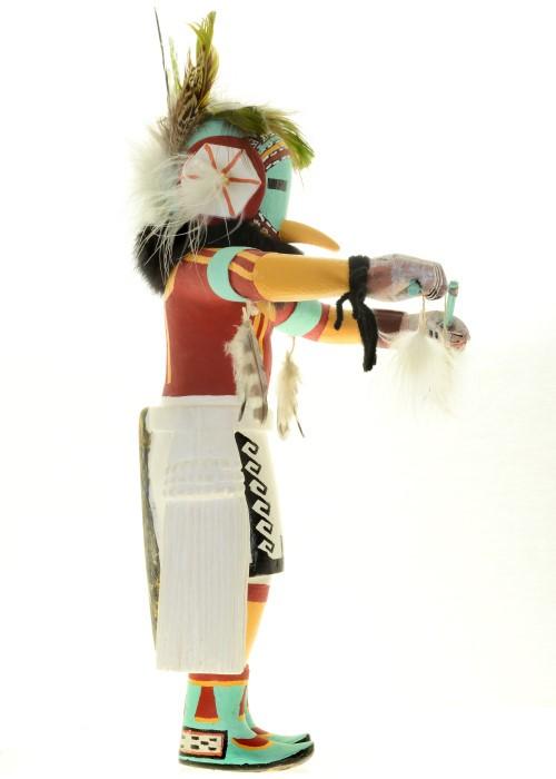 Hopi Flower Kachina Doll Vintage Collectible Hanger Style