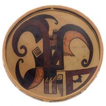Sikyatki Style Polychrome Bowl By Az Hawley