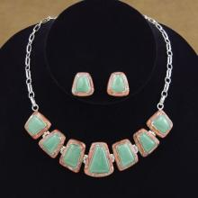Turquoise and Spiny Oyster Sterling Silver Necklace, Tennis Bracelet, Ring Jewelry Set