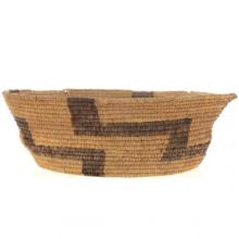 Old Papago Pima Indian Basket Step Pattern Early 20th Century