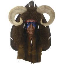 Sheep Hunter Spirit Mask Wall Mount Limited Edition Black Wolf