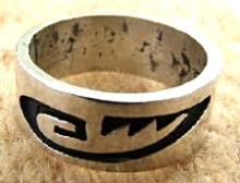 Vintage Hopi Symbol Overlay Ring Band