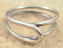Unique Silver Wire Ring