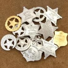 Wholesale Lot of 12 High Grade Heroes of the West Badges