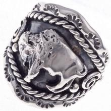 Buffalo Silver Mens Ring Navajo Best Seller