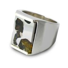 Meteorite Ring for a Man