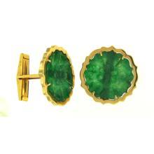Natural Green Jade - Jadeite Cufflink