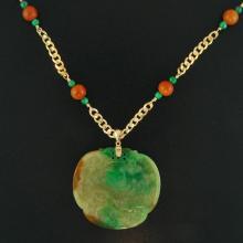 Natural Green Mix Jade - Jadeite Necklace