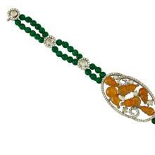 Natural Green Yellow Mix Jade - Jadeite Bracelet