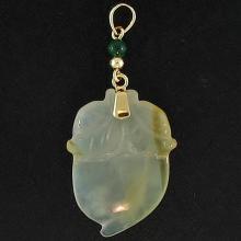 Natural Yellow Jade - Jadeite Pendant