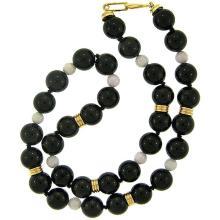 Black Mix Jade Necklace