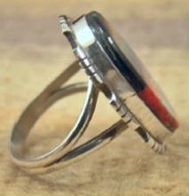 Navajo Multi Stone Inlay Arrow Design Ring