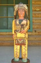 3 Foot Cigar Store Wooden Indian by Frank Gallagher CHRISTMAS DELIVERY NOT GUARANTEED