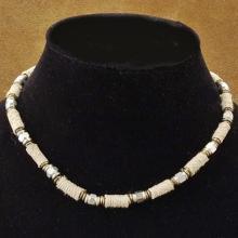Wholesale lot of 36 Hematite Wood Bali Bead Hemp Choker Necklace Variety Pack