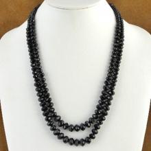 High Fashion Faceted Black Vevlet Crystal Beaded Necklace