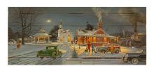 Home For Christmas By Keith Brown. Decorative Wood Wall Décor Art Print