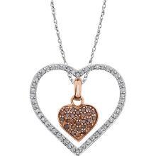 14K White 1/3 CTW Diamond Heart 18
