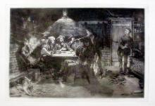 Frederic Remington Quarrel Over Cards Poker Table