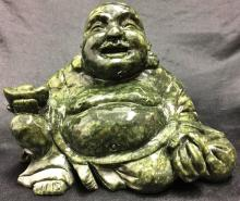 Green Jade Sitting Buddha