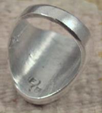 Large Navajo/zuni 11pc Turquoise Inlay Hummingbird-friendship Symbol Cast Ring
