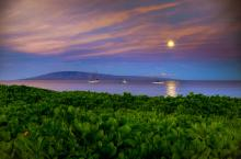 Sunrise Moon Hawaii. A Gallery Wrapped Canvas By Kelly Wade