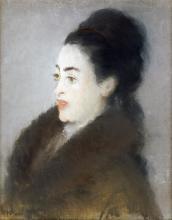 EDOUARD MANET - WOMAN IN A FUR COAT IN PROFILE