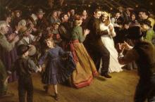 Morgan Weistling   The First Dance, 1884 Americana