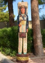 Cigar Store Indian in Blue Sergeant's Coat 6 Foot