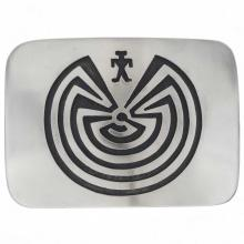 Man In The Maze Belt Buckle Silver Overlaid Accessory