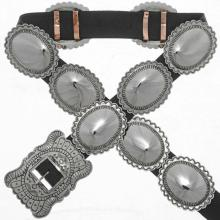 Indian Second Phase Silver Concho Belt Traditional Patterns
