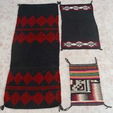 Navajo Small Three Piece Rug Lot By Danielle Yazzie Beginner's Weavings